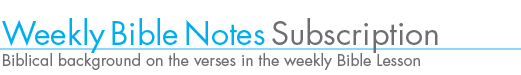 Weekly Bible Notes subscription