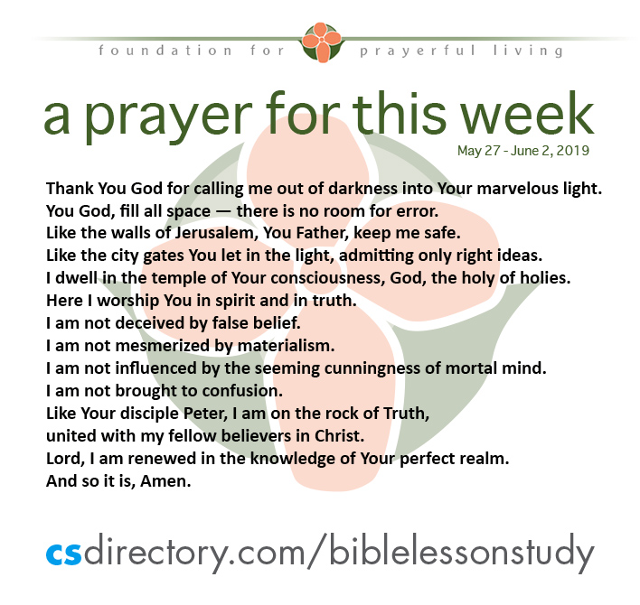 a prayer for this week