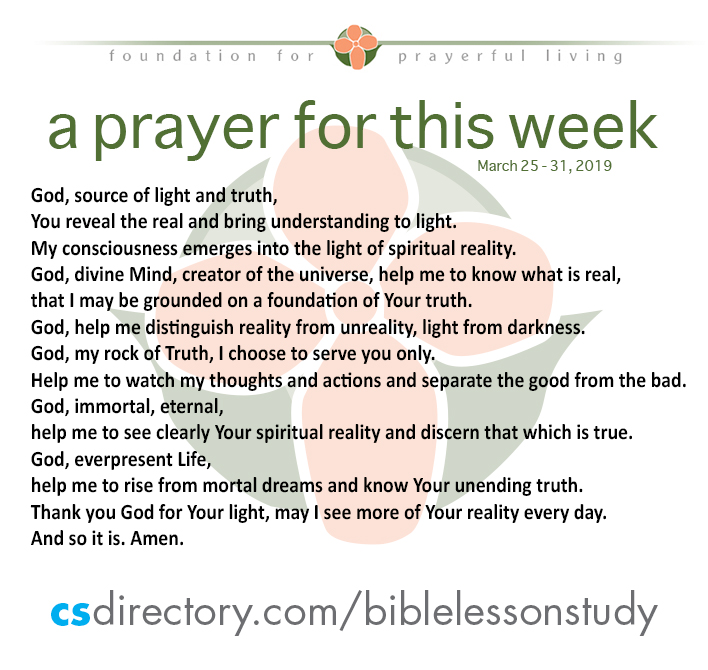 Prayer for This Week